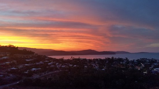 Whitsunday Reflections: The patio is the place to be at sunrise and sunset.