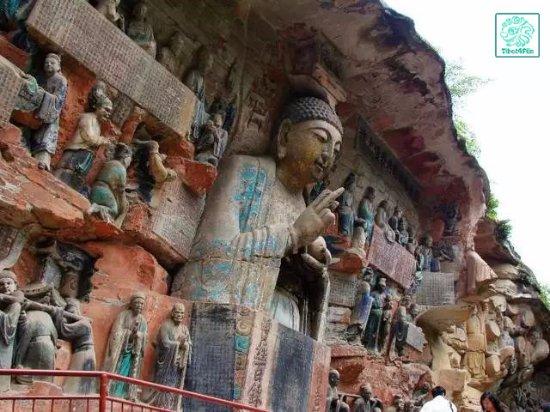 Gelè Hill (Gelè Shan/Báigong Guan/SACO) : Dazu Rock Carvings