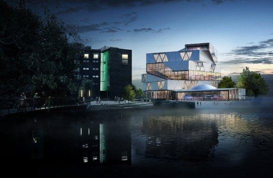 Der spektakuläre Neubau der experimenta Heilbronn. © Sauerbruch Hutton Architekten, Berlin