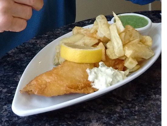 Bakewell Fish & Chips: The OAP special - which includes a drink!