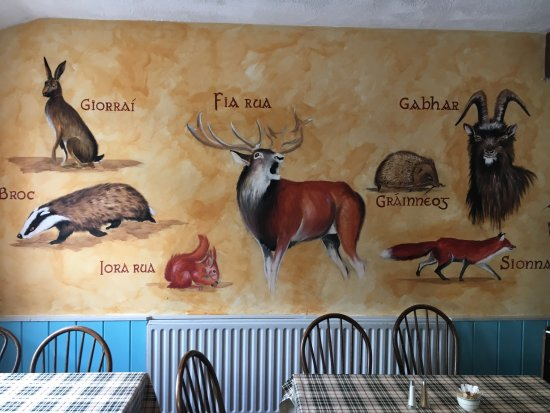 Laragh, Irlanda: walls have handpainted scenes and animals