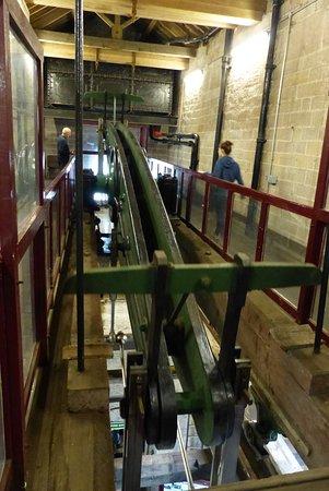 Matlock, UK: Visitors can walk alongside the massive beam