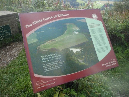 Thirsk, UK: White Horse of Kilburn