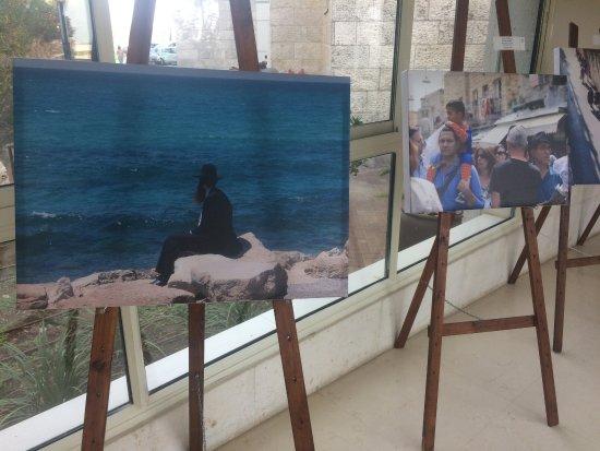 Ramat Rachel Resort: Artwork in the hallways.