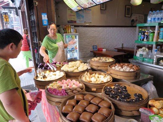 Chongqing, China: Stall selling all kinds of buns