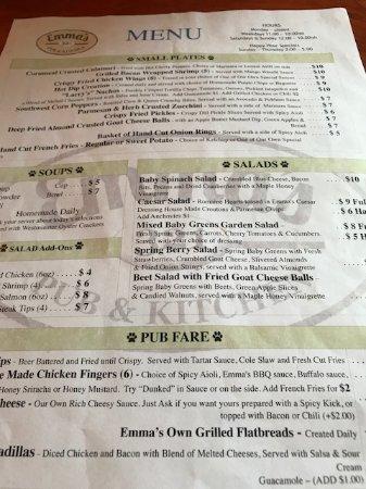 Rindge, NH: menu