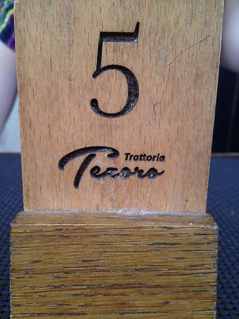 Trattoria Tezoro: restaurant's name