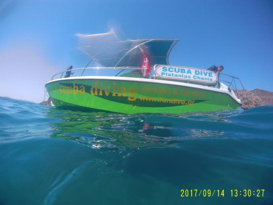 Platanias, กรีซ: The boat