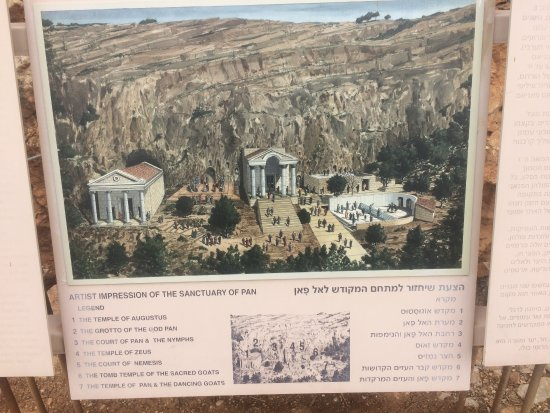 Golan Heights: Artistic depiction of what the temple complex would have looked like.