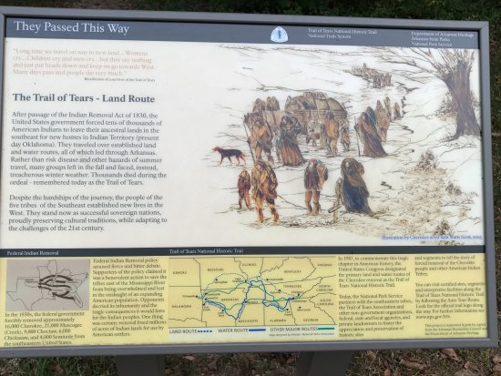 Garfield, AR: One of the land routes of the trail of tears used the Telegraph road