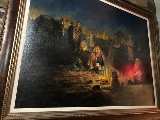Garfield, AR : Prints of the paintings used on the info boards are in the theater