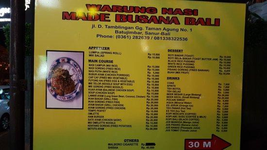 Warung Made Busana Bali: 20170919_210240_large.jpg
