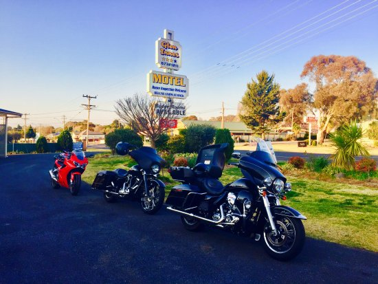 Harley time at the Glen Innes Motel
