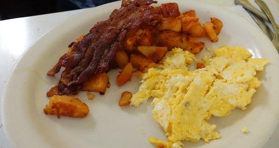 Tonawanda, NY: Well done scrambled eggs as ordered