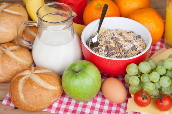Sayda, Duitsland: Gesundes auf dem Frühstücks Buffet