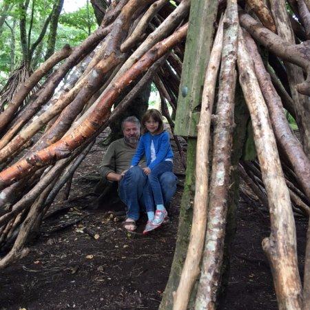Y Felinheli, UK: Den building in the woods