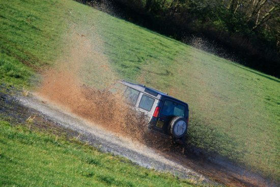 Dumfries ve Galloway, UK: 4x4 off roading at Kirkwood