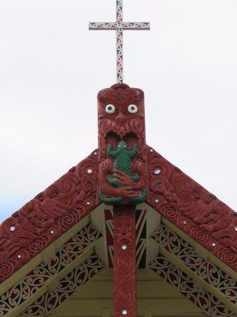 Mount Maunganui, New Zealand: Meeting house in Maori village