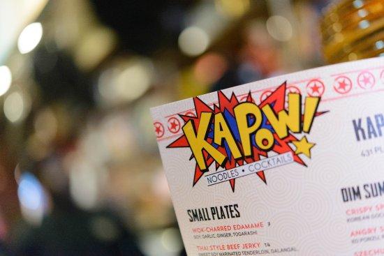 Kapow Noodle Bar: Kapow! Menu.