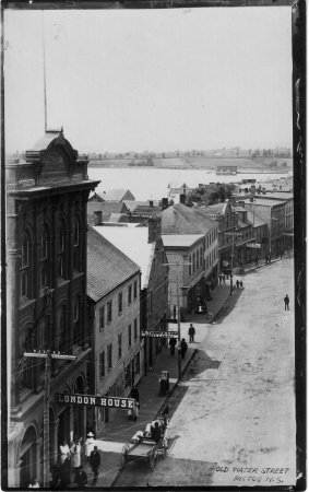 Pictou, Kanada: view from hotel in 1870