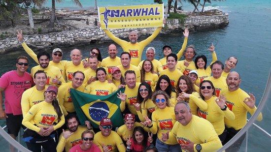 New Providence Island: Grupo de mergulho que foi comigo!!