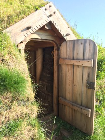 Fludir, Ισλανδία: Door to the sod house