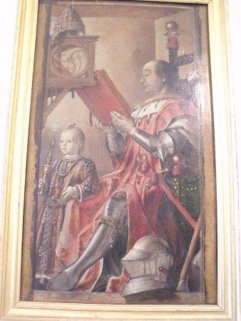 Ritratto Di Federico Da Montefeltro Col Figlio Guidobaldo Foto Di