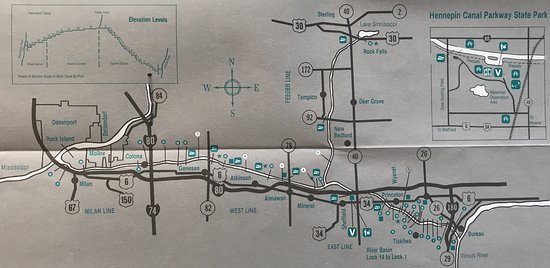 Sheffield, IL: Map of the Hennepin Canal Parkway
