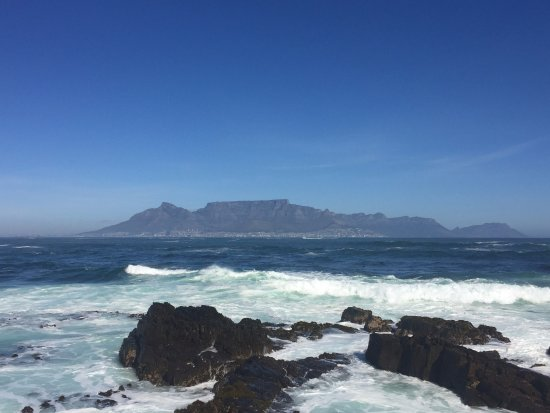 View of table mountain from robben island picture of - Robben island and table mountain tour ...