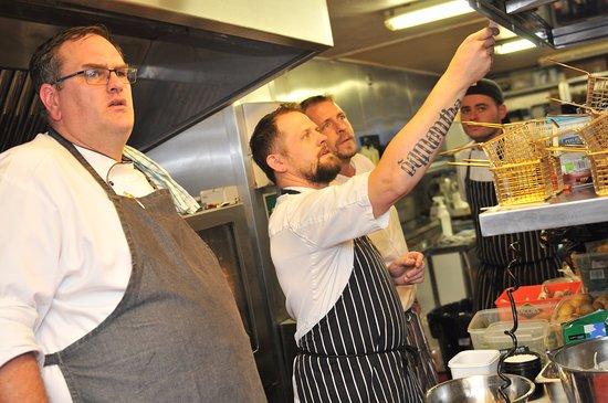 Cwmbran, UK: The kitchen team