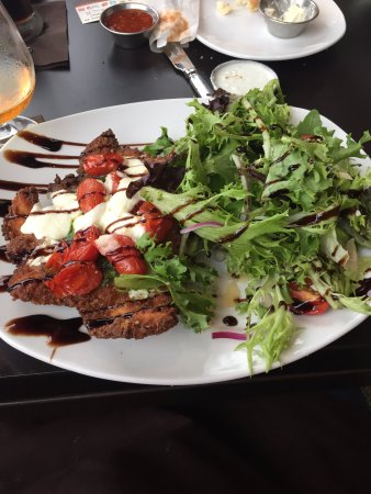Haverhill, MA: my crispy chicken parm and salad