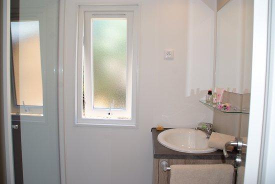 """Cogolin, Francia: Salle de bain en mobil-home """"Newa"""""""