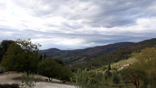 San Polo in Chianti, Italie : Valley's view