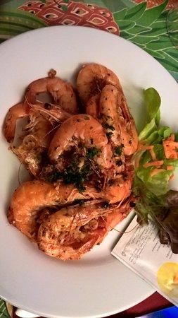 Lestiac-Sur-Garonne, France: crevettes au gingembre