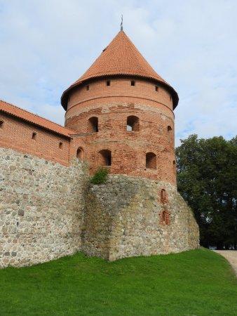 Trakai, Lituânia: une tour d'angle