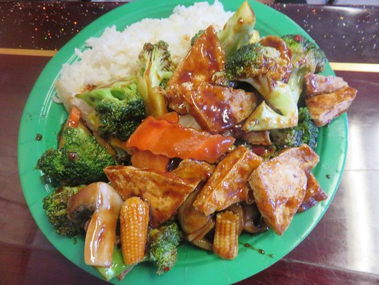 Dingmans Ferry, Pensylwania: Tofu with Vegetables over White Rice