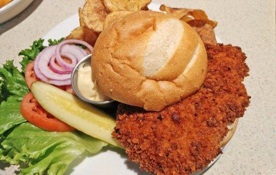 Canteen Bar & Lounge: Fried pork loin sandwich