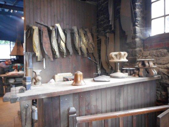 Villedieu-les-Poeles, Frankrike: gabarit pour fabrication du moule
