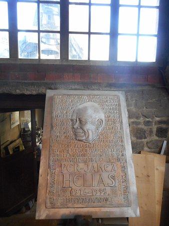 Villedieu-les-Poeles, Frankrike: plaque commémorative