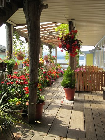 Alert Bay, Kanada: Flowers at the entry