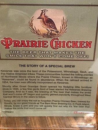 "Note ""Kewanee"" means ""Prairie Chicken"" in Winnebago language"