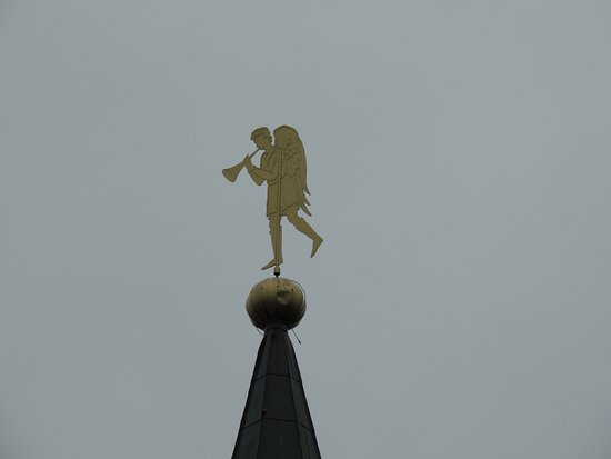 Valday, Rusia: флюгер-ангел на башне