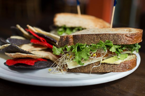 Java: Veggie Hummus Sandwich