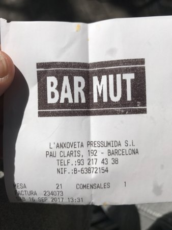 Photo of Seafood Restaurant Bar Mut at Pau Claris 192, Barcelona, Spain