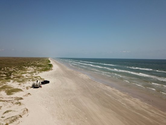 Padre Island National Seashore: Our Campsite @ Mile 6
