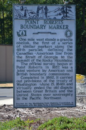 Point Roberts Boundary Marker