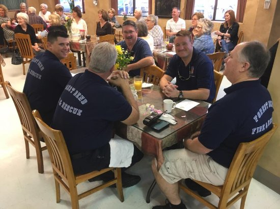 Friendswood, TX: the Forest Bend Fire Department loves the Village Cafe!