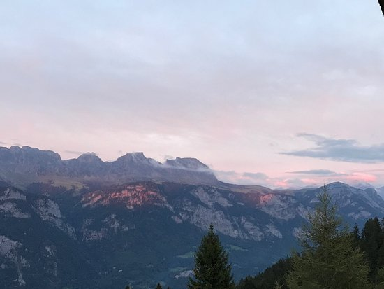 Flumserberg, سويسرا: Zimmeraussicht
