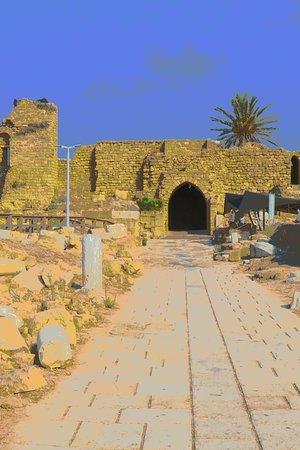 Caesarea, Israel: Kreuzfahrertor