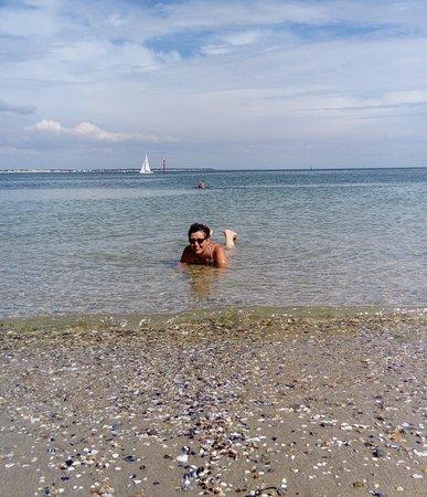 Le Pouliguen, France : dans l eau..